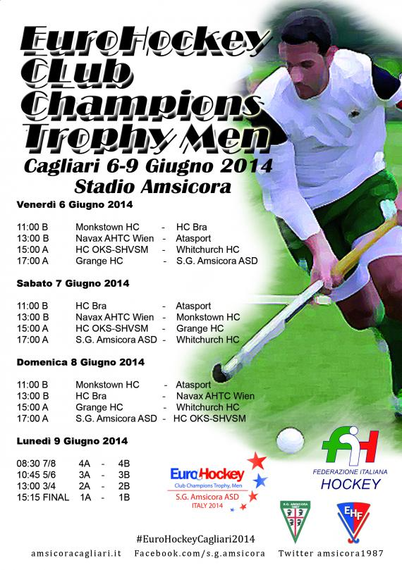 EuroHockey Club Champions Trophy, Cagliari, Men 2014